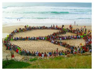 Altruism - human peace symbol