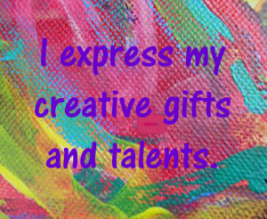 Creativity affirmation